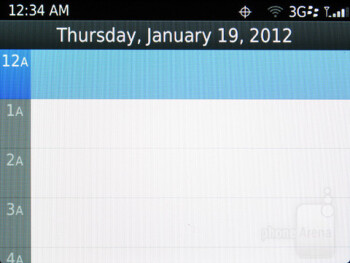 Calendar - RIM BlackBerry Curve 9370 Review