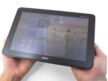 The Acer ICONIA TAB A200 is clean looking and provides a comfortable hold in the hand - Acer ICONIA TAB A200 Review