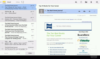 The Gmail and standard email apps - Acer ICONIA TAB A200 Review