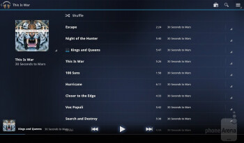 Music player - Acer ICONIA TAB A200 Review
