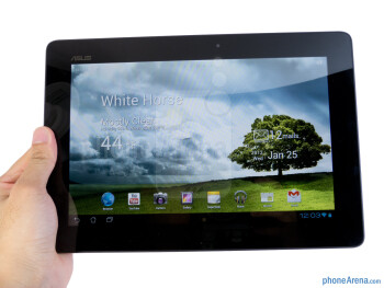 The Asus Transformer Prime is comfortable to hold with both hands - Asus Transformer Prime Review