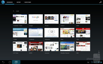 The web browsing experience on the Asus Transformer Prime  - Apple iPad 3 vs Asus Transformer Prime