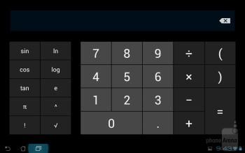 Calculator - Organizer apps - Asus Transformer Prime Review