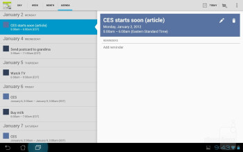 Calendar - Organizer apps - Asus Transformer Prime Review