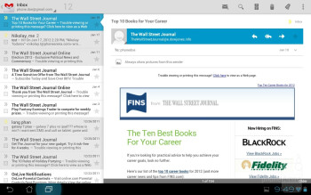 Email on the Asus Transformer Prime - Apple iPad 3 vs Asus Transformer Prime
