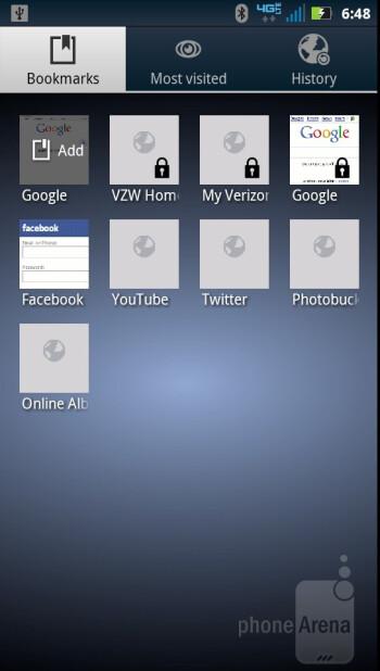 Web browser - Motorola DROID RAZR MAXX Review