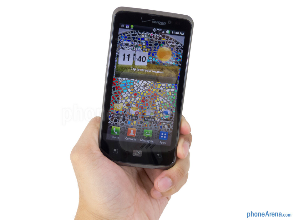 The LG Spectrum doesn't feel overbearing to hold in the hand - LG Spectrum Review