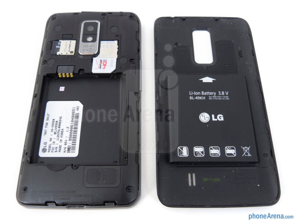 Battery compartment - LG Spectrum Review