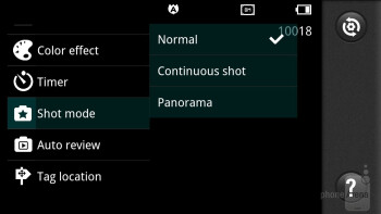 Camera interface - LG Spectrum Review