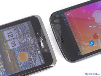 Front cameras - The LG Spectrum (left) and the Samsung Galaxy Nexus (right) - LG Spectrum vs Samsung Galaxy Nexus