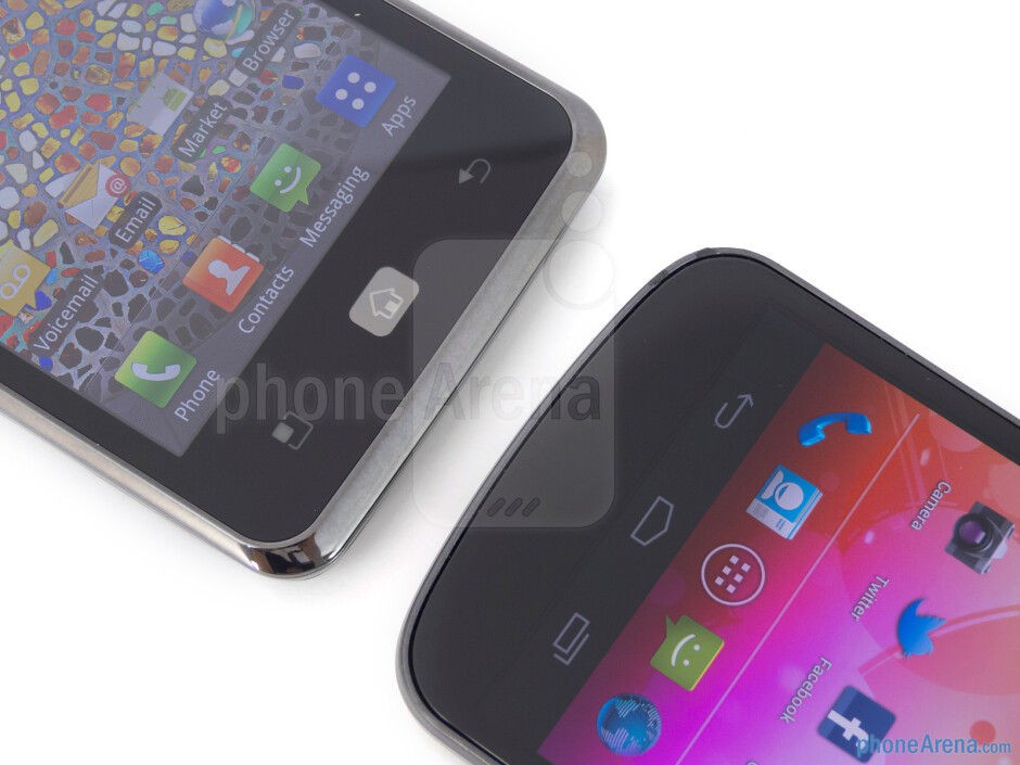 Android buttons - The LG Spectrum (left) and the Samsung Galaxy Nexus (right) - LG Spectrum vs Samsung Galaxy Nexus