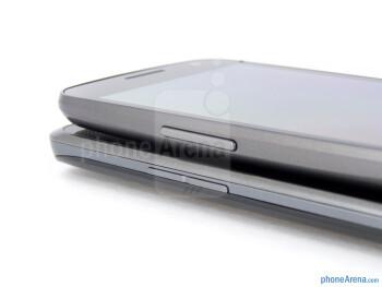 Volume rockers - The LG Spectrum (bottom) and the Samsung Galaxy Nexus (top) - LG Spectrum vs Samsung Galaxy Nexus