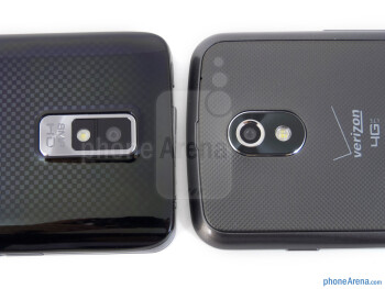Rear cameras - The LG Spectrum (left) and the Samsung Galaxy Nexus (right) - LG Spectrum vs Samsung Galaxy Nexus