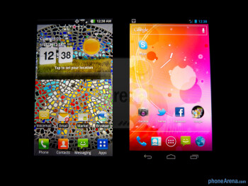 The LG Spectrum (left) and the Samsung Galaxy Nexus (right) - LG Spectrum vs Samsung Galaxy Nexus