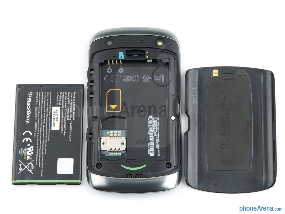 Battery compartment - Back - RIM BlackBerry Curve 9380 Review