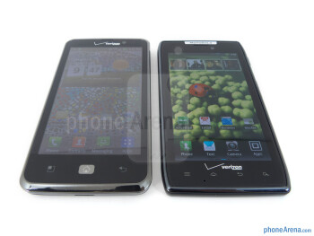 The LG Spectrum (left) and the Motorola DROID RAZR (right) - LG Spectrum vs Motorola DROID RAZR