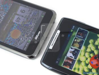 Front-facing cameras - The LG Spectrum (left) and the Motorola DROID RAZR (right) - LG Spectrum vs Motorola DROID RAZR