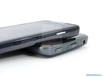 Power keys - The LG Spectrum (bottom) and the Motorola DROID RAZR (top) - LG Spectrum vs Motorola DROID RAZR