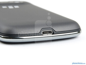 The microUSB on the bottom - RIM BlackBerry Bold 9790 Review