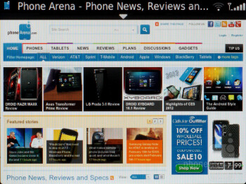 The web browser could be better and it doesn't have Adobe Flash - RIM BlackBerry Bold 9790 Review