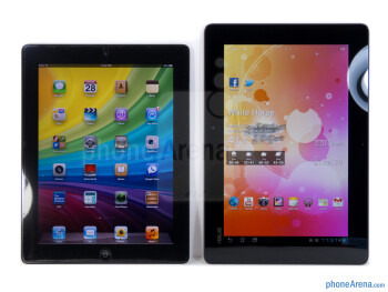 Both the Transformer Prime (right) and the iPad 2 (left) exhibit the qualities of a premium device with their minimalistic designs - Asus Transformer Prime vs Apple iPad 2
