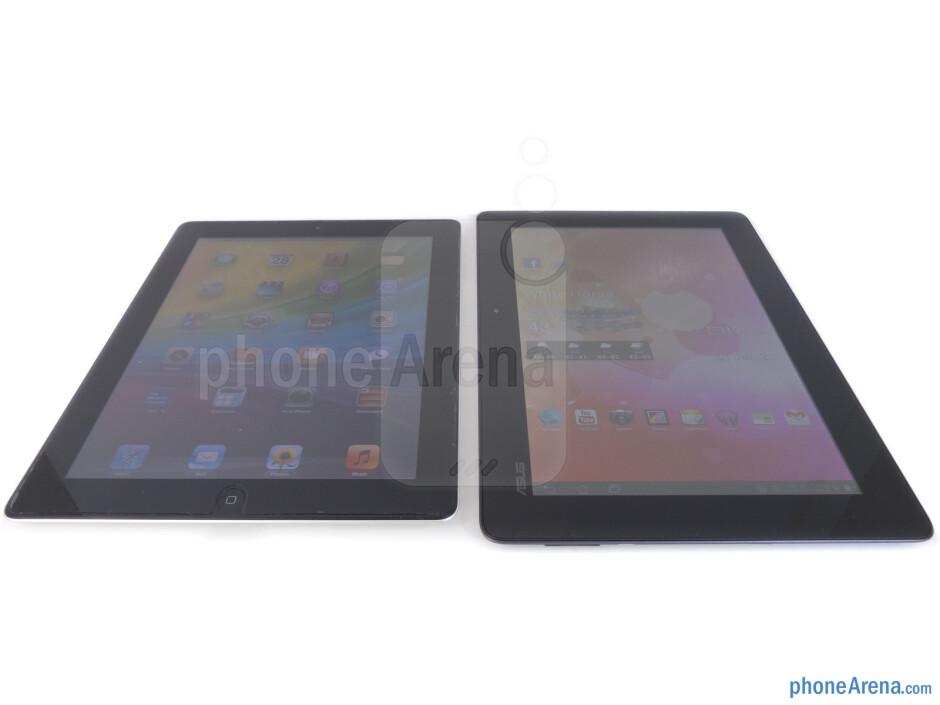 Asus Transformer Prime (right), Apple iPad 2 (left) - Asus Transformer Prime vs Apple iPad 2