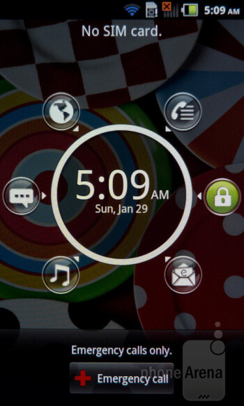 Pantech's customized UI is running on top of Android 2.3.5 Gingerbread - Pantech Burst Review