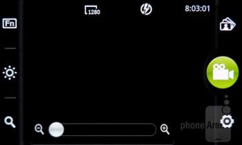 Camera interface - Pantech Burst Review