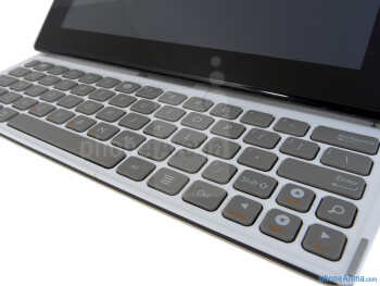 The chicklet style buttons are raised enough to offer distinction between them - Asus Eee Pad Slider Review