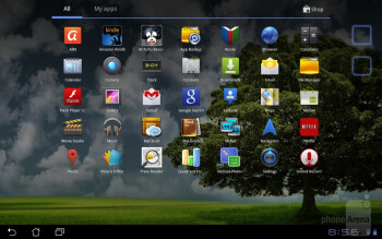 The Asus Eee Pad Slider it donning the stock Android 3.2.1 Honeycomb experience out of the box - Asus Eee Pad Slider Review