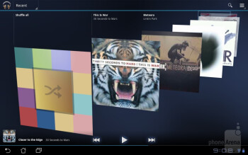 The stock Honeycomb music player - Asus Eee Pad Slider Review