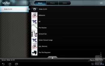 The MyNet app - Asus Eee Pad Slider Review