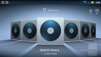 Music player - Motorola DROID 4 Review