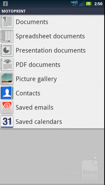 Preloaded apps on the Motorola DROID 4 - Motorola DROID 4 Review