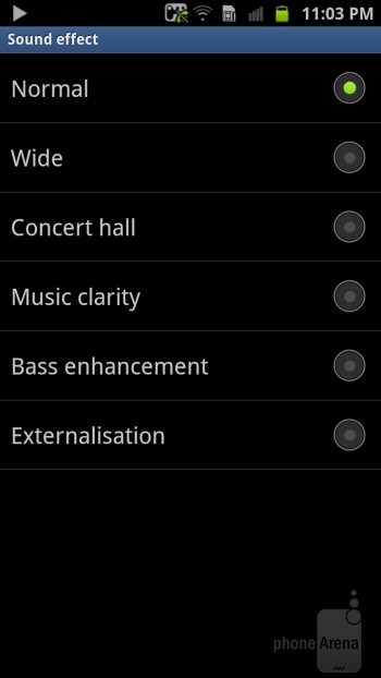 Music player - Samsung Galaxy S II HD LTE Review