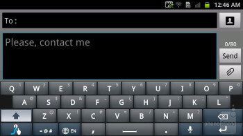 Typing up messages - Samsung Galaxy S II HD LTE Review