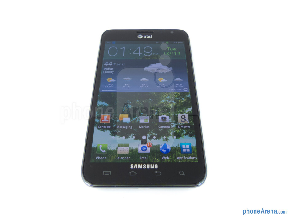 "The 5.3"" WXGA Super AMOLED display of the Samsung Galaxy Note LTE - Samsung Galaxy Note LTE Review"