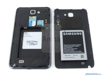 Battery compartment - Samsung Galaxy Note LTE Review