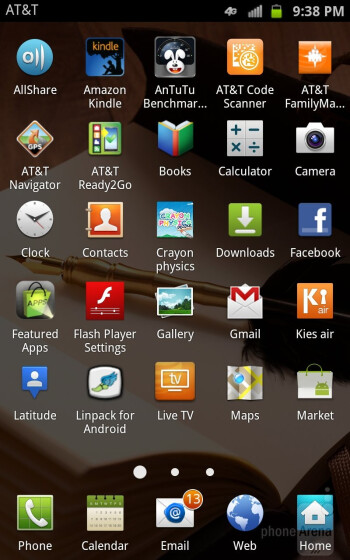 The interface of the Samsung  Galaxy Note LTE - Samsung Galaxy Note LTE vs LG Nitro HD