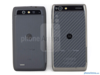 Backs - The Motorola DROID 4 (left) and the Motorola DROID RAZR MAXX (right) - Motorola DROID 4 vs Motorola DROID RAZR MAXX