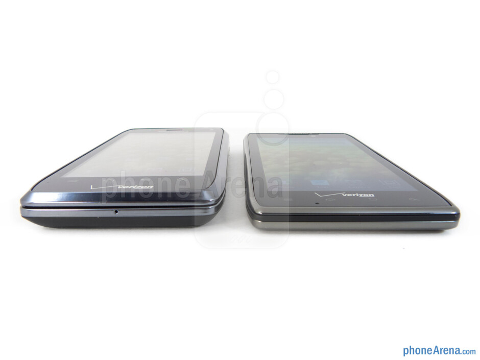 The Motorola DROID 4 (left) and the Motorola DROID RAZR MAXX (right) - Motorola DROID 4 vs Motorola DROID RAZR MAXX