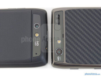 Rear cameras - The Motorola DROID 4 (left) and the Motorola DROID RAZR MAXX (right) - Motorola DROID 4 vs Motorola DROID RAZR MAXX