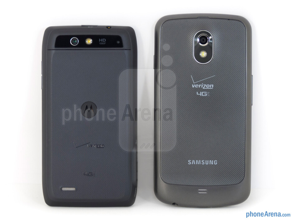 The Motorola DROID 4 (left) and the Samsung Galaxy Nexus (right) - Motorola DROID 4 vs Samsung Galaxy Nexus