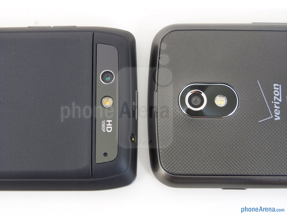 Rear cameras - The Motorola DROID 4 (left) and the Samsung Galaxy Nexus (right) - Motorola DROID 4 vs Samsung Galaxy Nexus