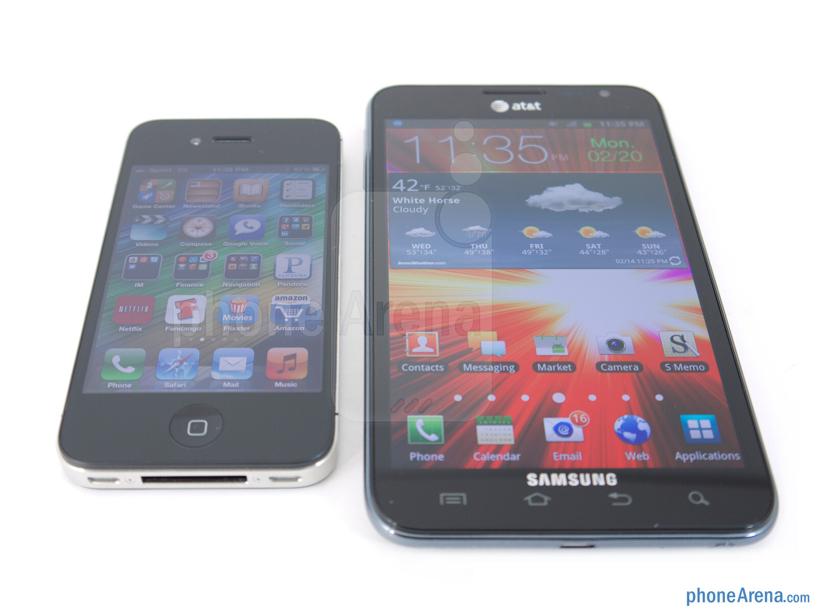 Samsung Galaxy Note LTE vs Apple iPhone 4S