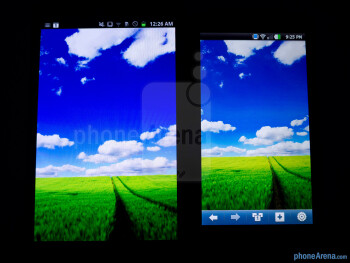 The Samsung Galaxy Note LTE (left) and the LG Nitro HD (right) - Samsung Galaxy Note LTE vs LG Nitro HD
