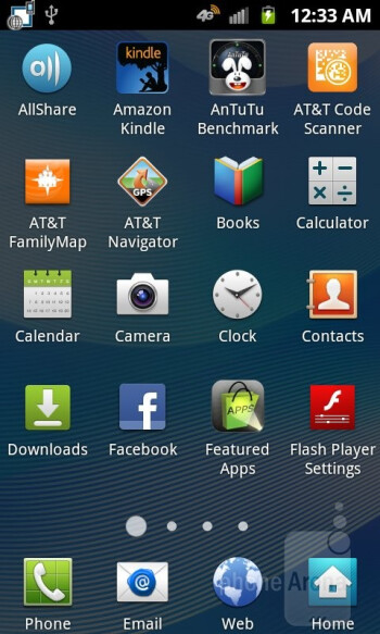 The phone runs essentially the same TouchWiz experience on top of the Android 2.3.6 OS - Samsung Rugby Smart Review