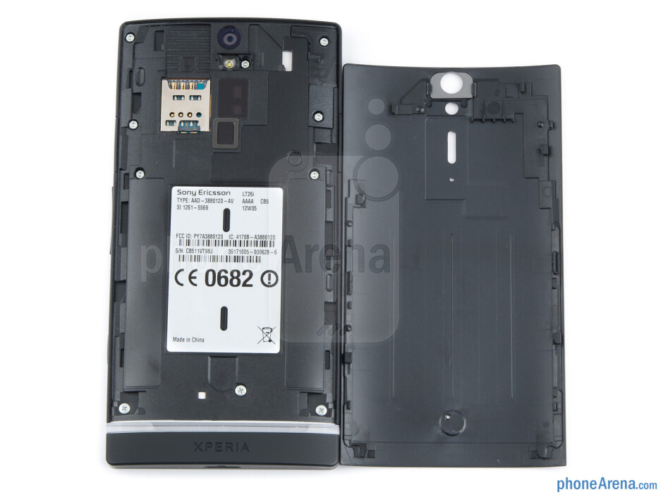 The back cover of the Xperia S get blotched really quickly - Sony Xperia S Review