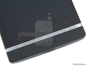 The touch control keys below the screen - Sony Xperia S Review
