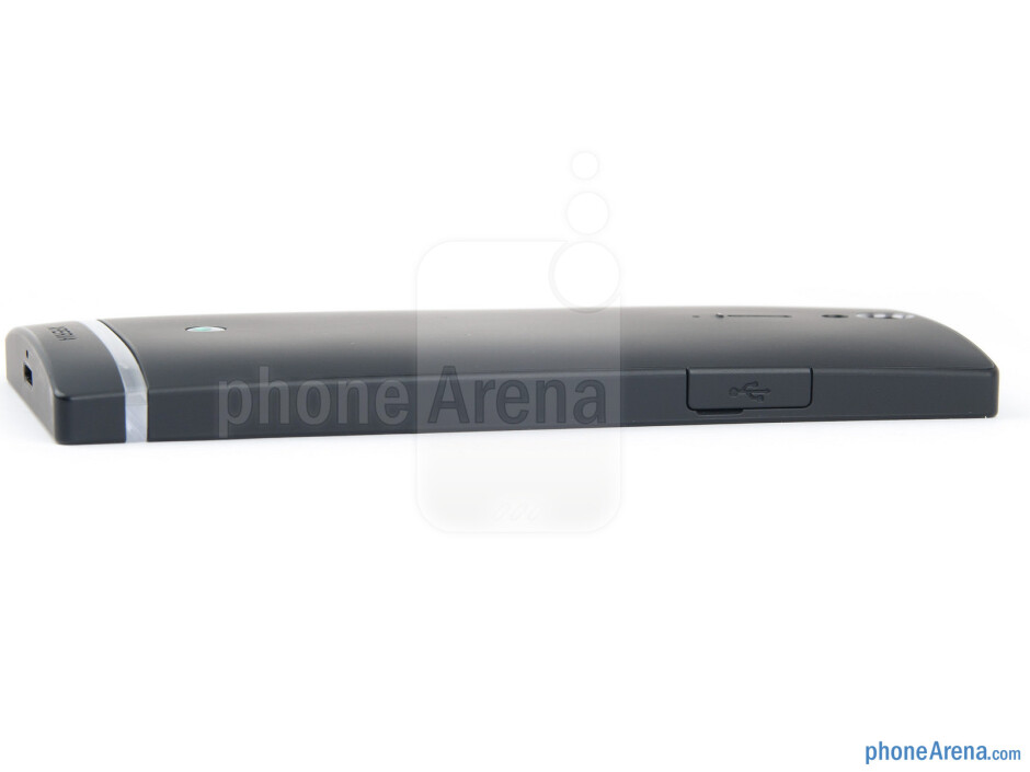 The USB port on the left - Sony Xperia S Review